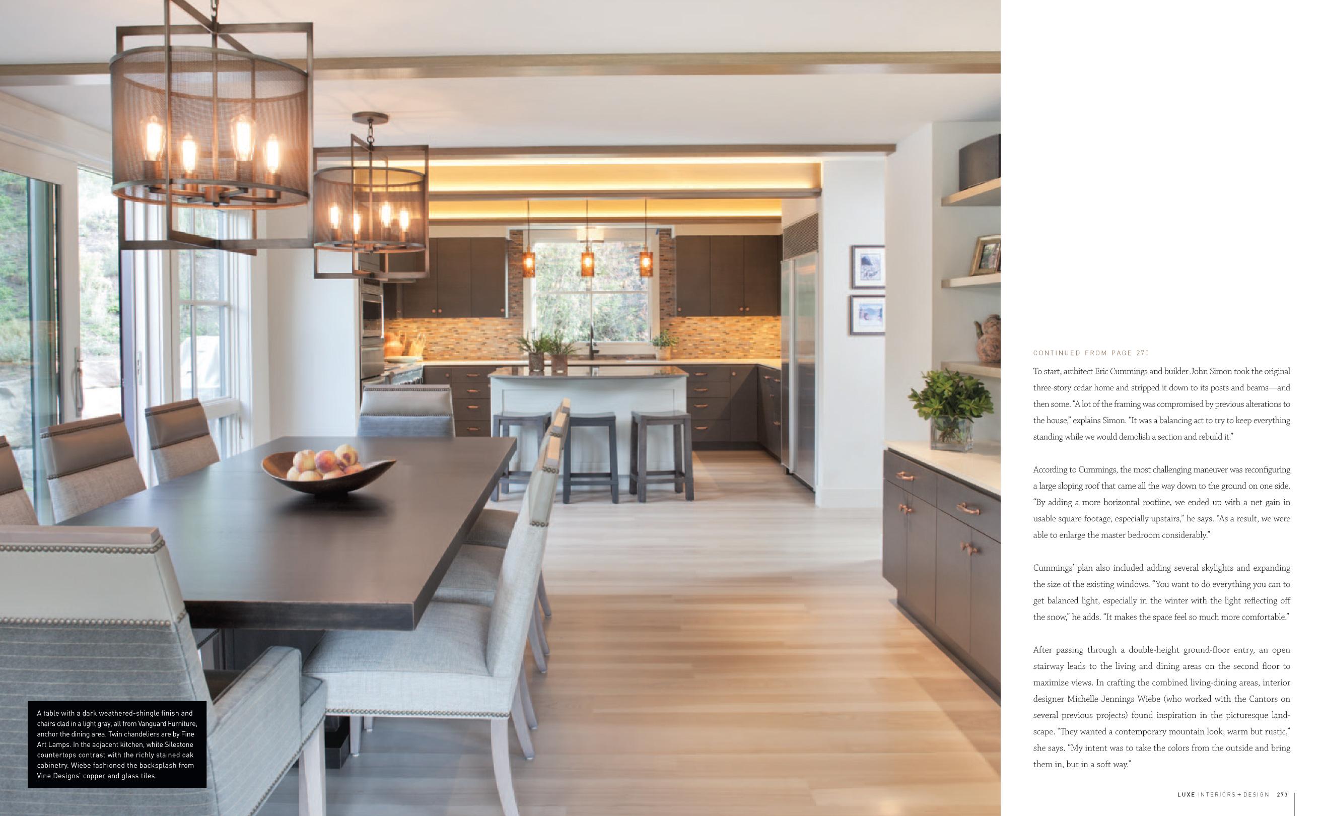 Luxe magazine studio m telluride co interior design - Interior design kitchen dining room ...